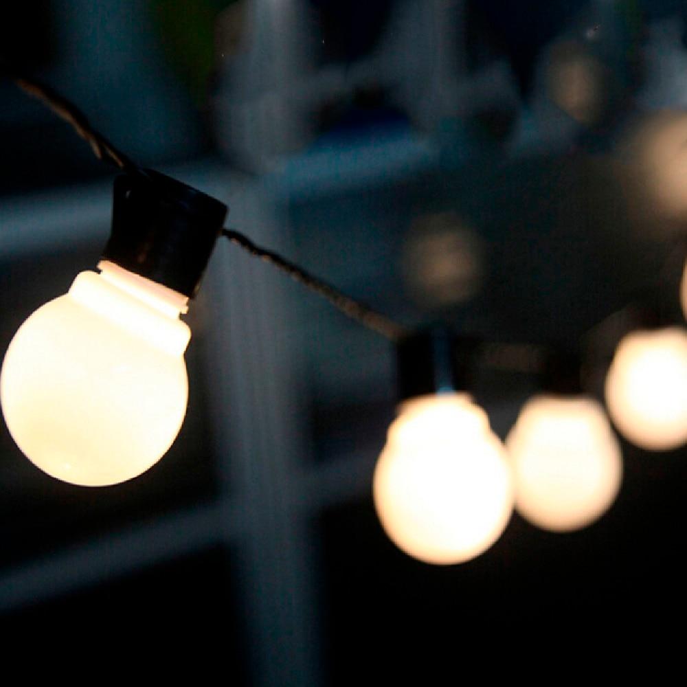 6m Festoon Led Globe Fairy String Light Christmas Garland 20 Led Fairy Light Bulb Outdoor For Wedding Garden Party Decoration