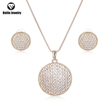 oaiite Round Hollow Arrival Silver Plated Necklace Earrings African Costume Jewelry Set For Women Wedding Accessories W2018