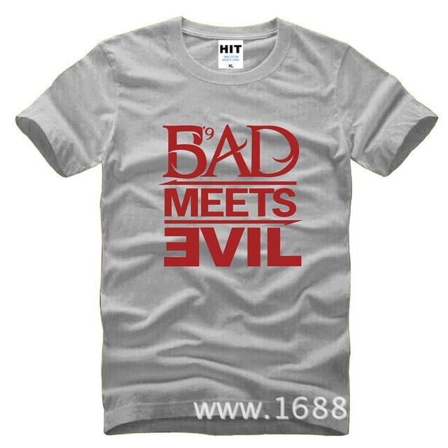 Eminem Bad Meets Evil rap rock Men's T-Shirt T Shirt For Men 2015 New Short Sleeve Cotton Casual Top Tee Camisetas Masculina 4