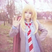 Anime Adult Women Your lie in April Cosplay Costume Kaori Miyazono School Uniform FulL Set ( Jacket + Shirt + Skirt + Tie )