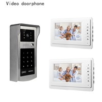 7 Inch TFT LCD Hd Screen Wired Video Doorphone System For Villa 2 Monitor With One