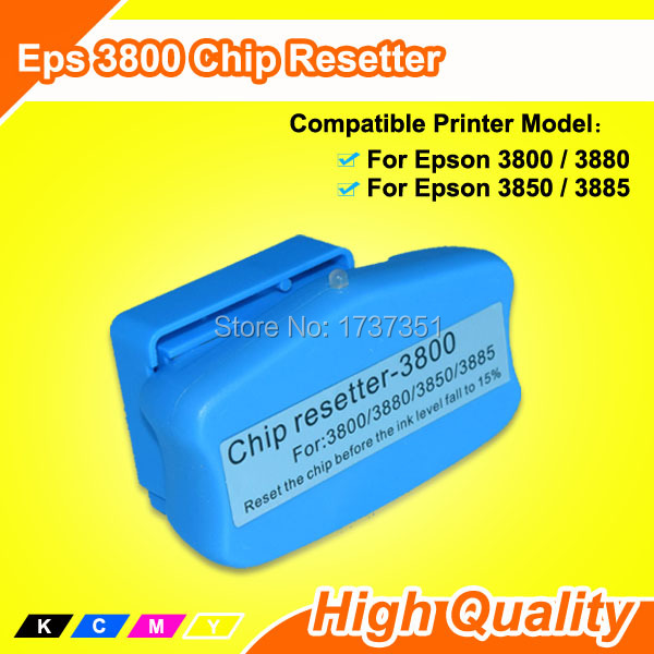 1 piece universal ink cartridge and maintenance tank chip resetter Compatible For Epson Stylus Pro 3880 3800 3850 3885 printer cs dx18 universal chip resetter for samsung for xerox for sharp toner cartridge chip and drum chip no software limitation