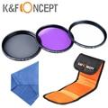 77mm Filter Kit UV CPL FLD K&F CONCEPT Ultraviolet Polarizing Camera Lens Filter For Canon Nikon Pentax Tamron Sigma 77 MM Lens