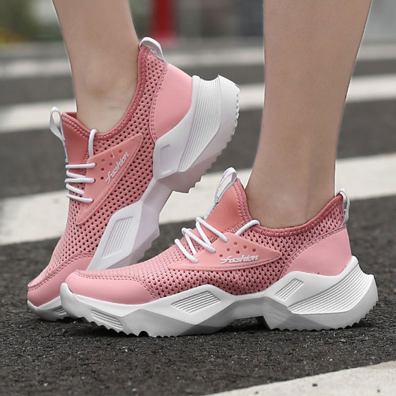 NKAVQI Spring Women Shoes Flats Lady Fashion Casual Breathable Sneakers Mesh Running Shoes Women Sport Flat Platform Shoes 2019NKAVQI Spring Women Shoes Flats Lady Fashion Casual Breathable Sneakers Mesh Running Shoes Women Sport Flat Platform Shoes 2019