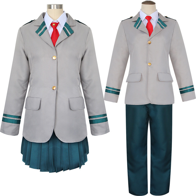 My Hero Academia Boku no Hero Akademia Todoroki Shoto Ochaco Uraraka School Uniform Outfit Anime Halloween Cosplay Costume