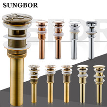 Free Shipping Antique Brass Bathroom Lavatory Sink Pop Up Drain Brass Vanity Vessel Sink Drain Without Overflow HL-8225F drains bathroom parts brass black lavatory vessel vanity sink pop up drain stopper with overflow faucet accessories hj 0618h