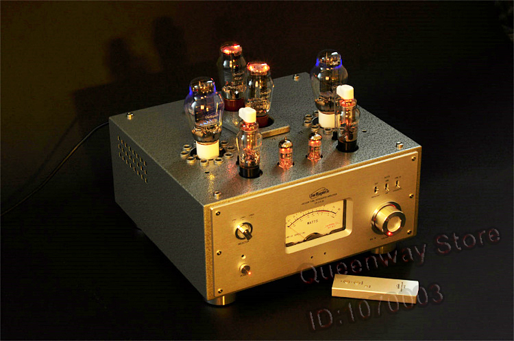 Line Tube Magnetic Amplifier LM-210IA Integrated Amplifier Single Ended 300Bx2 5U4Gx2 8W*2 Vacuum tube amplifiers line tube amplifier magnetic tube amplifier lm 501ia class ab1 integrated tube amplifier a kt120 4 100w 2 great power output