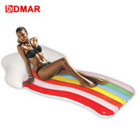 DMAR Inflatable Rainbow Giant Pool Float Inflatable Mattress Swimming Ring Inflatable Circle Beach Sea Water Party Toys Unicorn