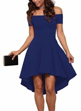 Red Solid high waist sleeveless collar party dress for Shemales & Crossdressers