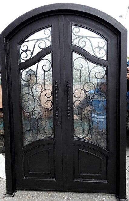 Hench 100% Steels Metal Iron Outdoor Door With 12 Gaugel Steel