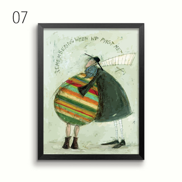 HTB168ghBiCYBuNkHFCcq6AHtVXaC Gohipang Happy Family Abstract Love Canvas Painting Vintage Posters Prints Scandinavian Nordic Wall Art Picture For Bedroom Home