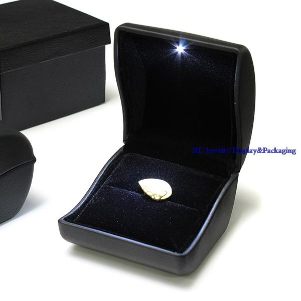 Free Shipping Wholesale High Quality Jewelry Gift Box Black PU