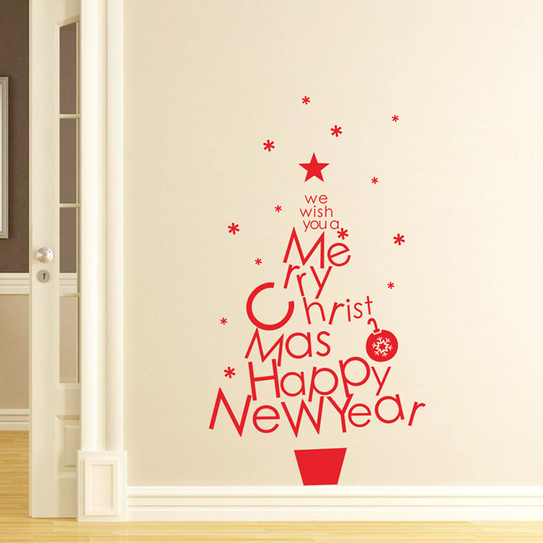 Christmas Wall Decorations online get cheap merry christmas decal -aliexpress | alibaba group