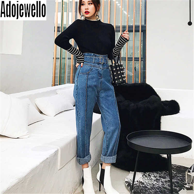Delle donne di Alta Vita BeltHarlan Dei Jeans di Moda Primavera 2020 di New Allentato Del Denim Dei Pantaloni