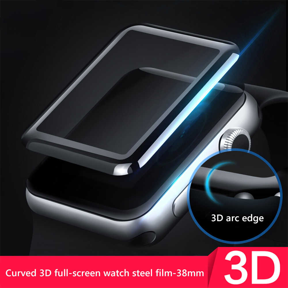 3D Tempered Glass For Apple Watch Series 1 2 3 4 Screen Protector Protective Film For watch 44mm 40mm 38mm 42 mm For iPhone XS