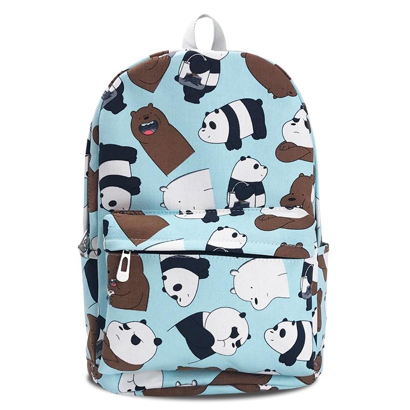 9bd2693827a4b7 Children's We bare bears canvas Backpack ice bear panda grizzly laptop bag  School Bags bookbag rucksack on Aliexpress.com | Alibaba Group