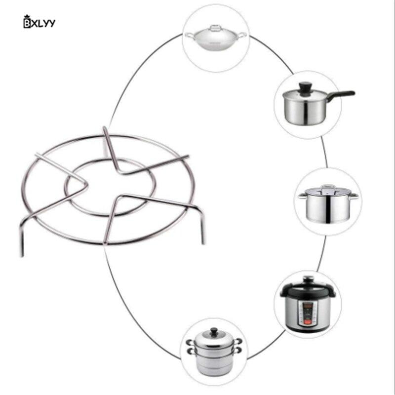 BXLYY 2019 Hot dostaw z kuchni 304 garnek ze stali nierdzewnej stojak na gotowane na parze kuchenka do gotowania ryżu oddzielone na parze stojak na przybory kuchenne Accessories.8z