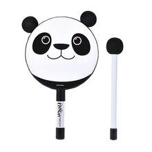 6in панда бубен ручной держать барабан образовательный ударный музыкальный инструмент игрушка подарок с молотком для детей