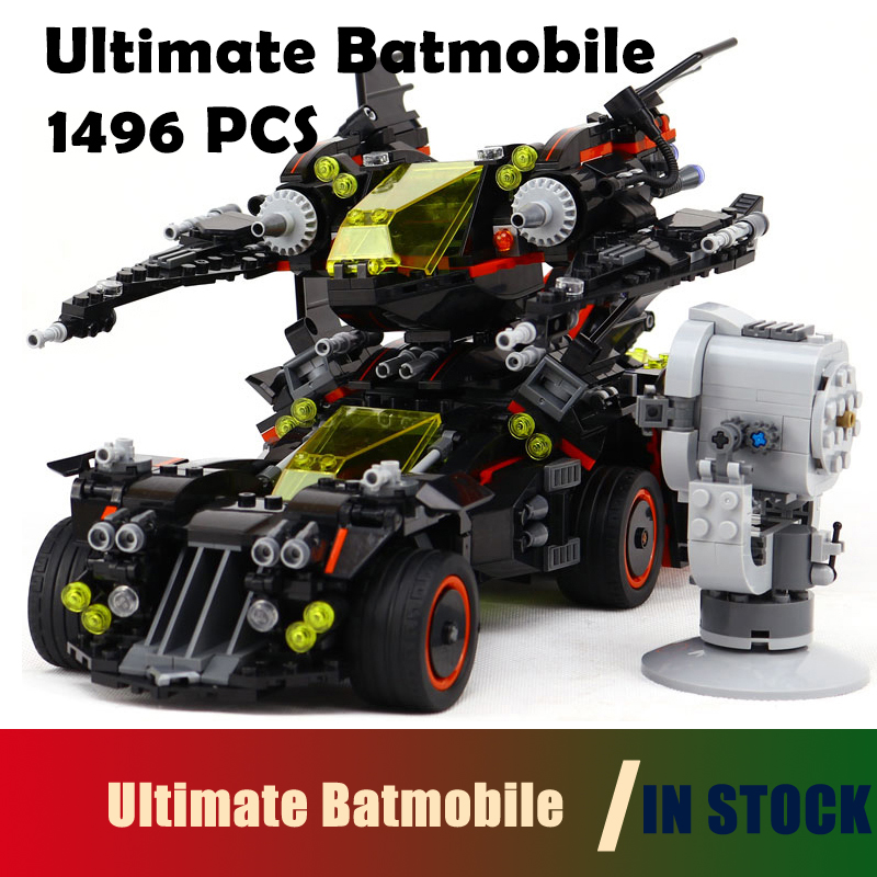 Compatible with Lego Model building blocks batman 70917  07077 super heroes Ultimate Batmobile Figure bricks toys for children 785pcs knight stone colossus of ultimate destruction model building blocks 14036 assemble bricks toys nexus compatible with lego