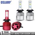 Oslamp 2pcs H7 80W/72W Car LED Headlight Bulb CREE Chips 9600lm/8000lm White 6500K Auto h7 Led Headlamp DRL Fog Lights 12v 24v