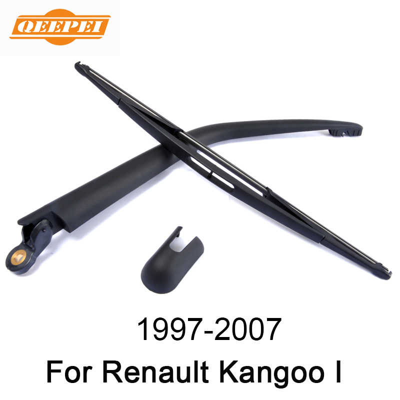 QEEPEI 16'' Rear Wiper Arm And Blade For Renault Kangoo I 1997-2007 High Quality Natural Rubber Auto Car Accessories