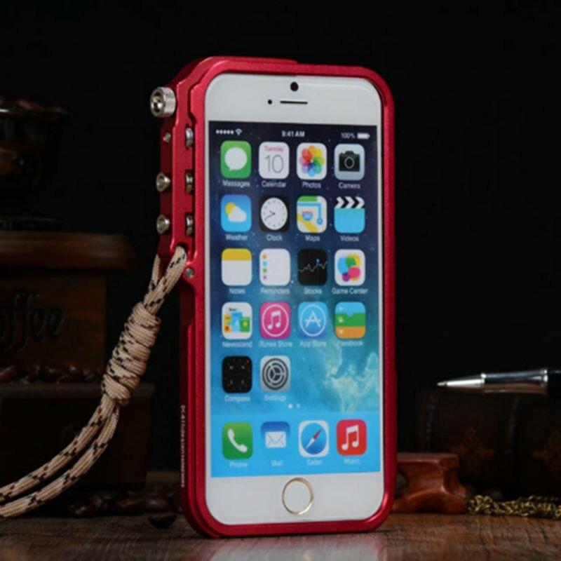 imágenes para Lo nuevo Ultra Thin Capa Para Apple iPhone 6 Parachoques de Lujo Metal de aluminio Del Teléfono Celular Casos de Protección Cubiertas Para el iphone 6 4.7''