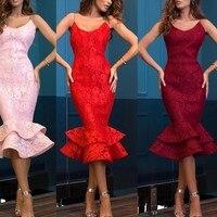 Сексуальная Русалка Короткие коктейльные платья 2019 для Для женщин носить ремни Чай Длина молния розовый цвет красного вина элегантное для