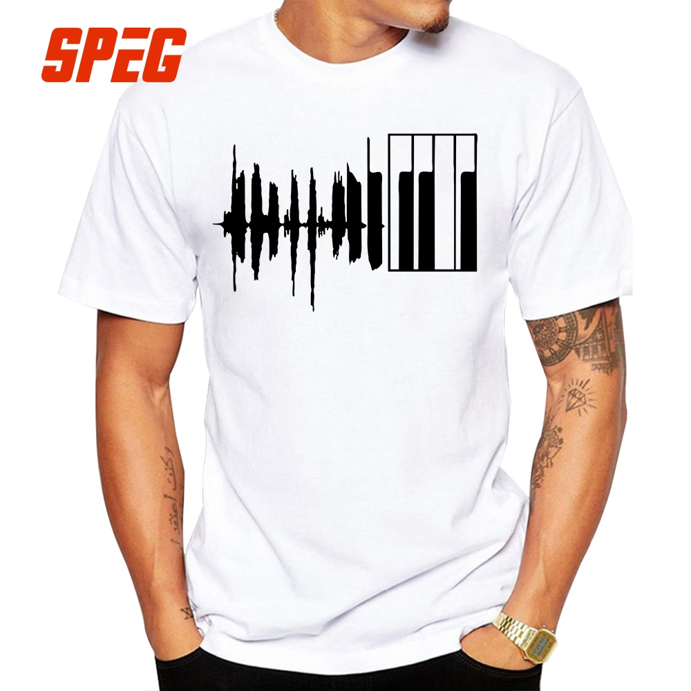 Designer Printed T Shirts | Printed T Shirt Men Piano Keyboard Tee Shirt Music Designer Man