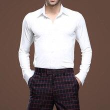 New Arrival Men Latin Dance Shirts Latin Dance Top Long Sleeve Tango Samba Salsa Standard Performance Costumes