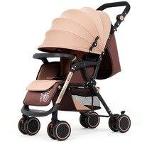 Марка Детские коляски ультра легкий складной может сидеть может лежать на высоком пейзаж зонтик ребенка тележка летом и зимой