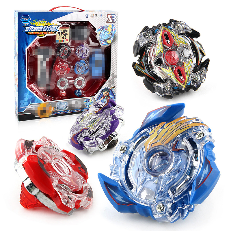 4Pcs/Lot Beyblade Burst with Beyblade Lanceur DIY Gyro Belt Competitive Combat Burst Gyroscope Toy Handle Launch