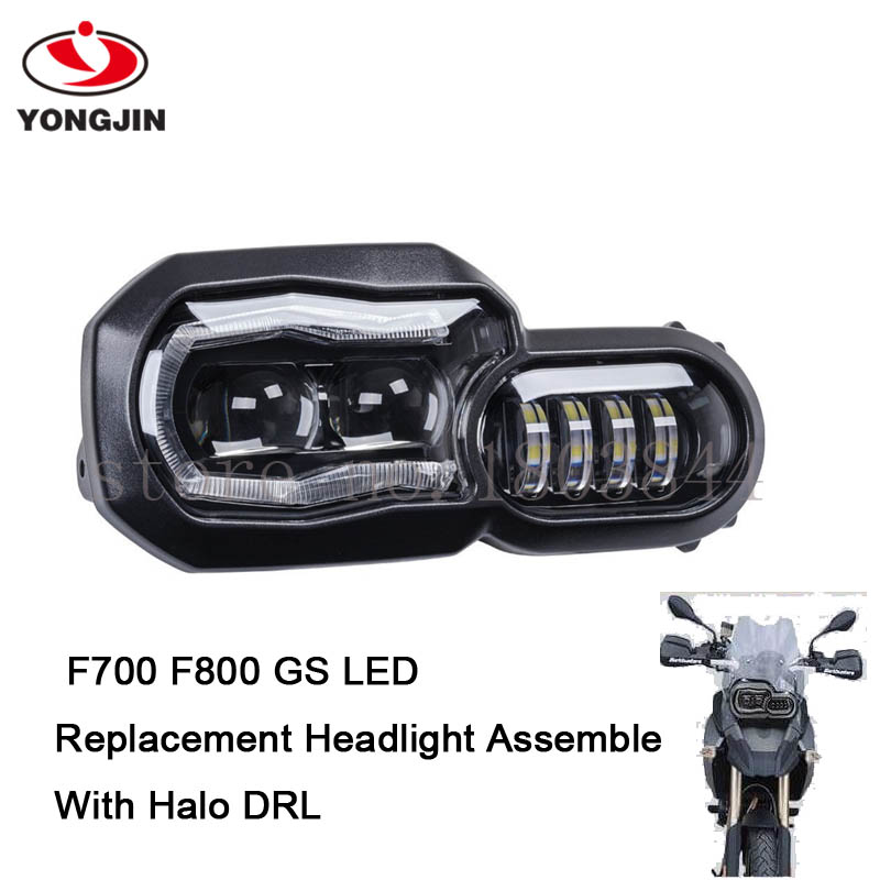 F700 F800 GS LED REPLACEMENT HEADLIGHT ASSEMBLY WITH HALO DRL|assembly - title=