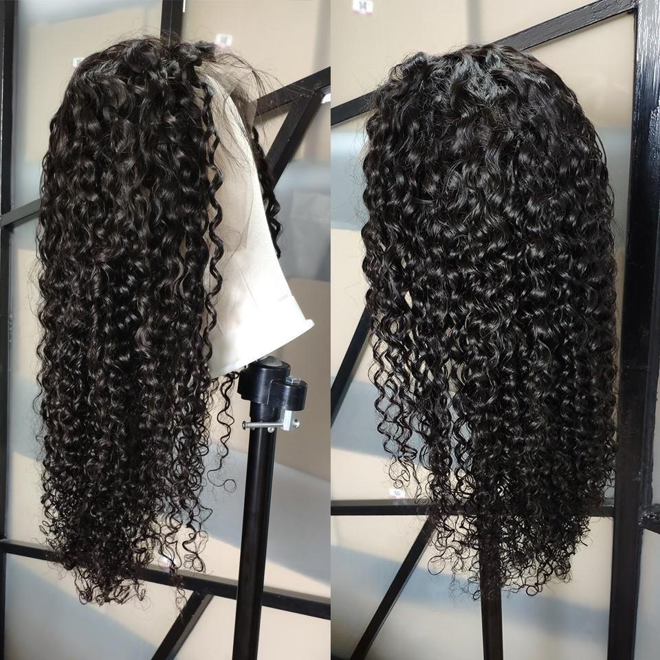 Image 4 - Yyong 13x4 Lace Front Human Hair Wigs With Baby Hair Indian Deep Wave Remy Human Hair Lace Front Wigs For Women Pre Plucked-in Human Hair Lace Wigs from Hair Extensions & Wigs