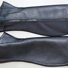 Профессиональные полушапочки для верховой езды мягкие кожаные шапочки защита для тела Конный инвентарь из натуральной кожи