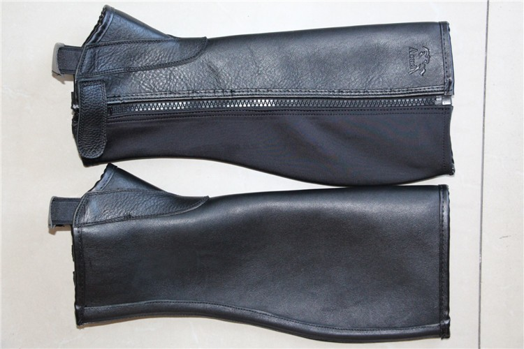Profession Half Chaps Horse Riding Chaps Soft Leather Chaps Body Protector Equestrian Equipment Genuine Leather Chaps Halters