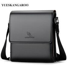 YUESKANGAROO New Luxury Brand Men Leather Shoulder Bags Business Messenger Bag Casual Leather Sling Crossbody Bags Vintage Man B
