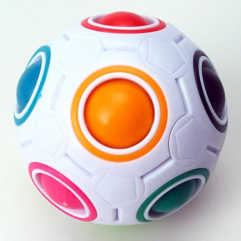 Fun Creative Sphérique Puzzle Cube Vitesse Arc-En-Boule De Football - Jeux et casse-tête - Photo 3