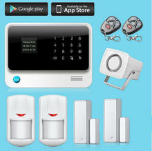 Freeship Wifi GSM Alarm System Touch Screen IOS Android APP Control Alarmes Wireless Alarm For Home Anti-theft Motion Detector