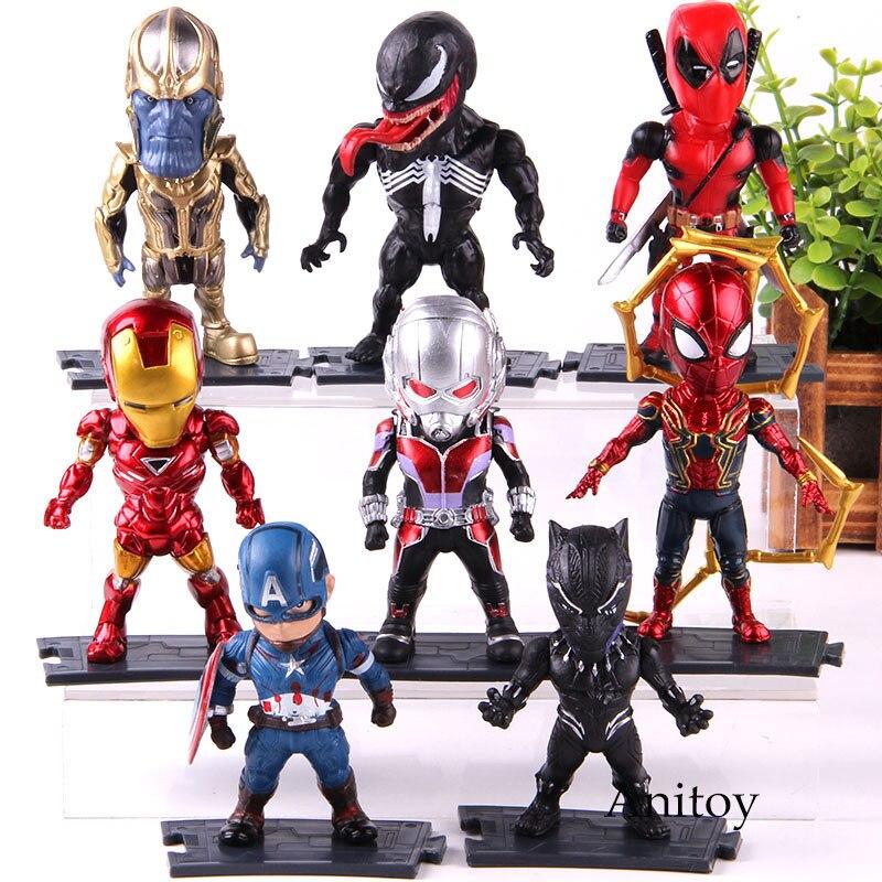 Vingadores Marvel Thanos Figura de Ação Homem De Ferro Homem Aranha Capitão América Deadpool Pantera Negra Formiga Man Venom Figura Modelo Brinquedos