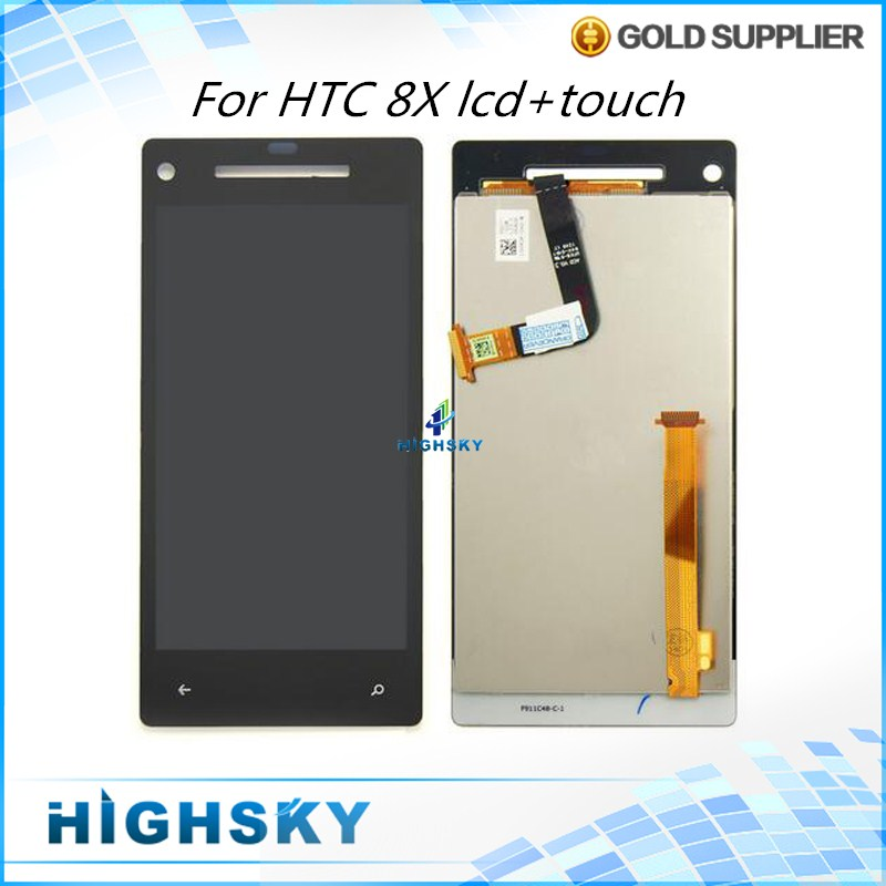 1 Piece Free Shipping Tested Black Display For HTC 8X LCD C620e With Touch Screen Digitizer Assembly