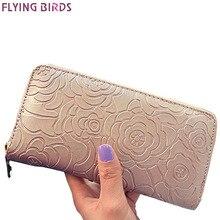 Летящие птицы кошельки женские бумажник известные бренды портмоне доллар цена 2017 новые дизайнерские кошельки Держатель для карт клатч A116fb