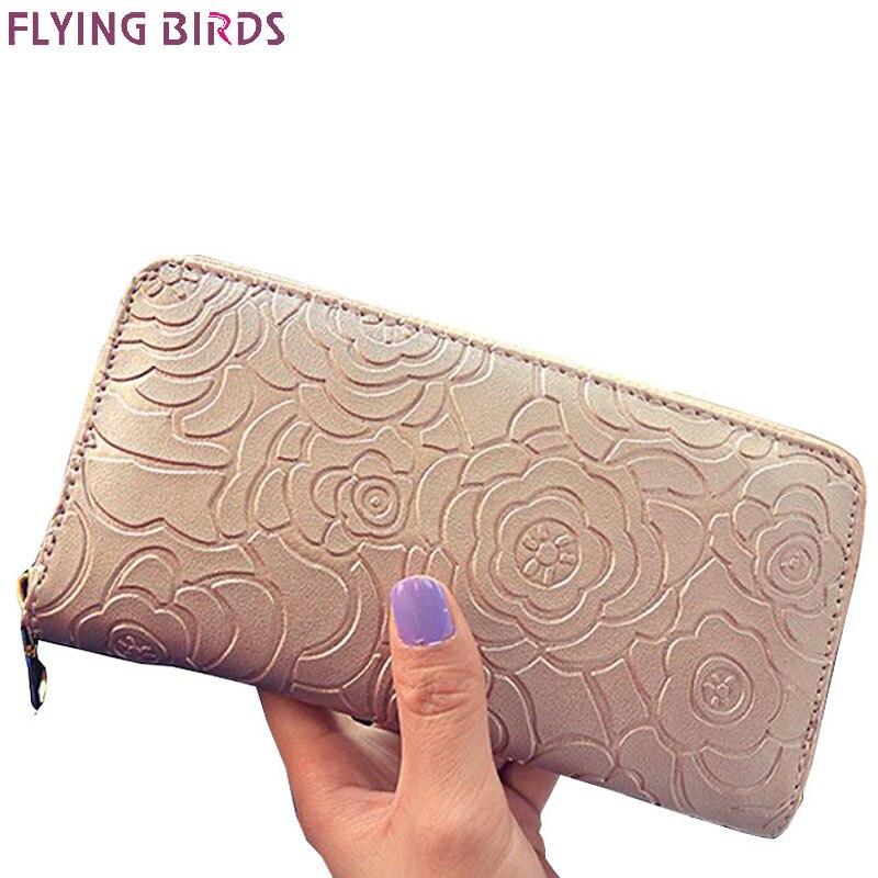Pájaros volando carteras cartera de marcas famosas monedero de la moneda dólar precio 2017 Nuevo diseñador bolsos tarjeta soporte embrague A116fb