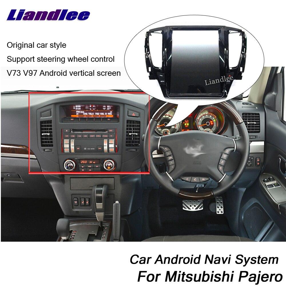 Liandlee Android For Mitsubishi Pajero V73 V97 2017~2019 Original Tesla Style Radio Carplay GPS Navi MAP Navigation Multimedia Mitsubishi Pajero