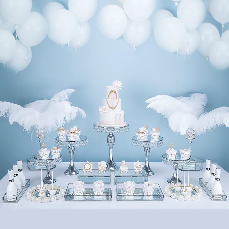 Zilveren Europese bruiloft dessert display ornamenten cake plank cake tray dessert inventaris hart plaat fruitschaal