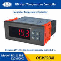 RINGDER RC-113M 220V50HZ 0.1C PID Heat Brooding Hatching Regulator Digital Thermostat Temperature Controller for Incubator Lab