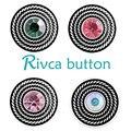 Botón A Presión Rivca Joyas Estilo de Botón A Presión de Metal Rhinestone Pulseras Para Las Mujeres Brazalete de Europa Perlas Regalos de Navidad D03201