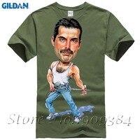 Band Queen Fans FREDDIE MERCURY ART T Shirt Cotton Top 11022 Fashion Brand T Shirt Men