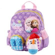 c3f13c7b52 Cute Princess Anna Elsa Plush Olaf Backpack Kids Children School Bags for  Girls Baby Kindergarten Preschool