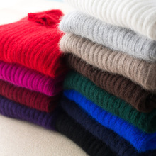 купить Autumn And Winter Women Mink Cashmere Sweater Turtleneck Pit Strip Slim Bottoming Warm Knitted Fashion Sweater по цене 1727.28 рублей