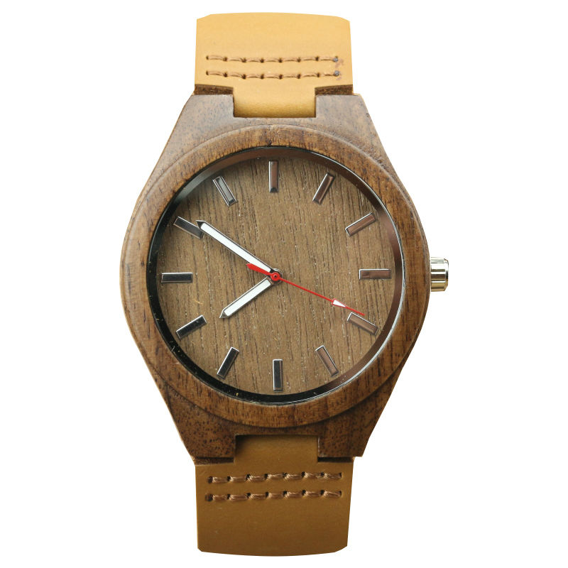 2017 Hot Selling Luxury Brand Women And Men Simple Dial Natural Wooden Wristwatch Couple Casual High Quality Leather Watch